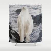 ghost Shower Curtains featuring Ghost by John Turck