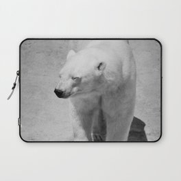 Polar Bear Photography | Canada | Black and white | Mammal | Nature | Wildlife Laptop Sleeve