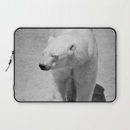 Polar Bear Photography | Black and White | Mammal | Nature | Wildlife | Animal Laptop Sleeve