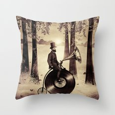 Music Man in the Forest, by Eric Fan and Viviana González Throw Pillow