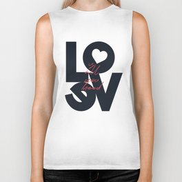 Love is all you need illustration, Valentine's Day, romantic gift for her, wedding day, romance Biker Tank