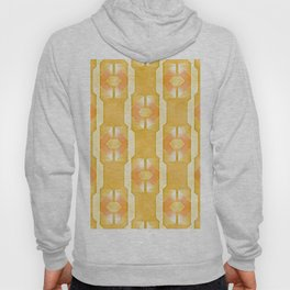 Art Deco Airbrush Abstract in Yellow Gold Hoody