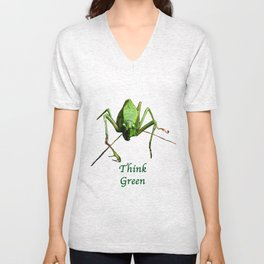 Green Katydid Unisex V-Neck