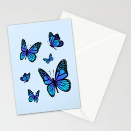 Butterfly Blues | Blue Morpho Butterflies Collage Stationery Cards