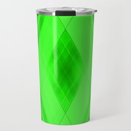 Hot triangular strokes of intersecting sharp lines with emerald triangles and stripes. Travel Mug