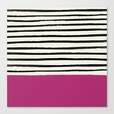 Raspberry x Stripes Canvas Print