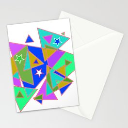 In triangle Stationery Cards