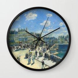 Renoir - Pont Neuf, Paris, 1872 Wall Clock