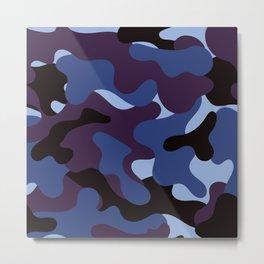 purple camouflage pattern Metal Print