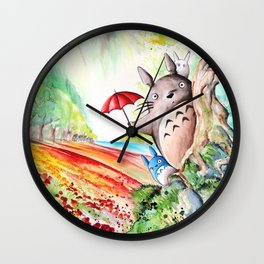 """Behind the tree"" Wall Clock"