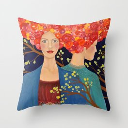les ames soeurs Throw Pillow