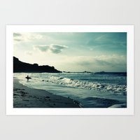 surf Art Prints featuring Surf by Hilary Longley