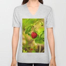 Wild strawberry Unisex V-Neck