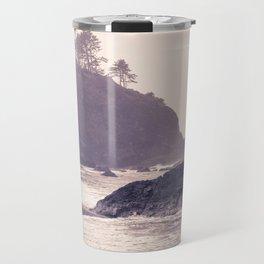Hazy Washington Coastal Landscape Seascape Mist Beach Ocean Surf Northwest PNW Wanderlust Scenic Art Travel Mug