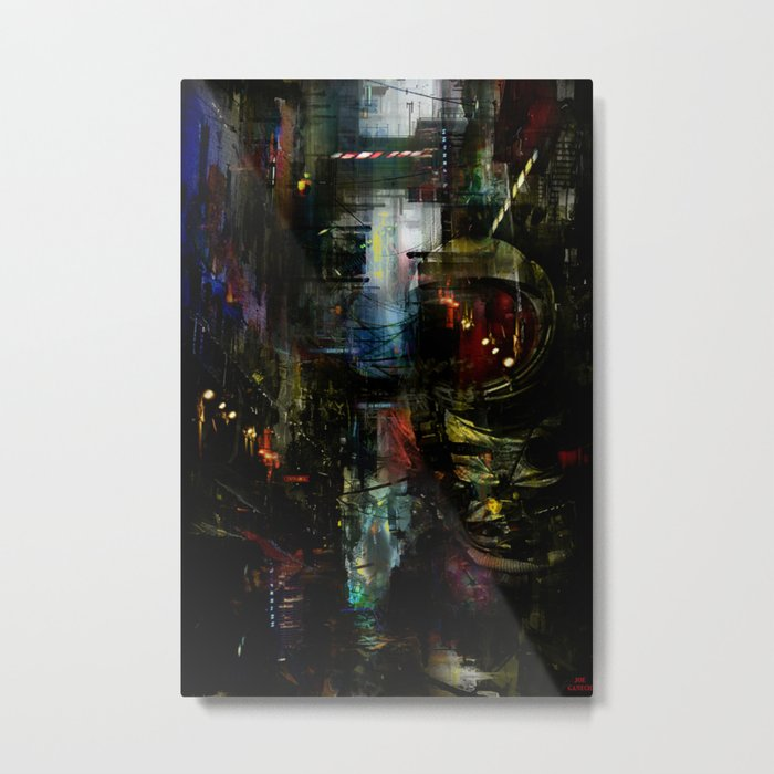 Astronaut in the city Metal Print