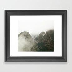 Among The Gods  Framed Art Print