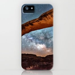 Natural Bridge and the Milky Way in Utah iPhone Case