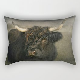 The Black Cow Rectangular Pillow