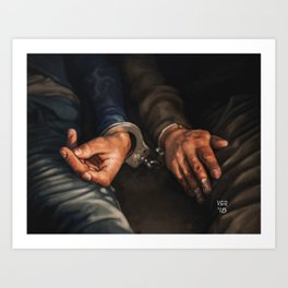 Cuffed Hands Art Print