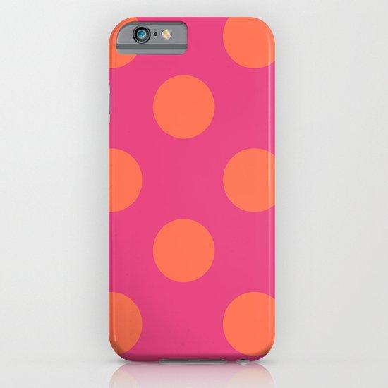fuchia with orange polka dots iPhone & iPod Case