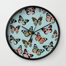 You Give Me Butterflies.. - Light Blue Wall Clock
