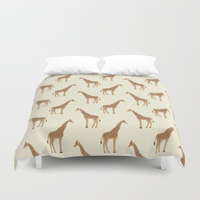 Giraffe Animal Minimal Modern Pattern Basic Home Dorm Decor Nursery Safari Patterns Duvet Cover