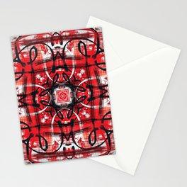Red Black Decor Design Stationery Cards