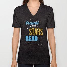 Stars - Just Read Unisex V-Neck