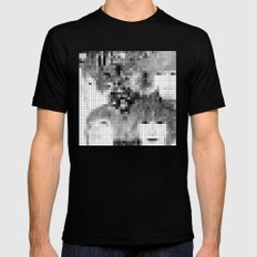 The Fab Four - Revolver Pixel Cover Black MEDIUM Mens Fitted Tee