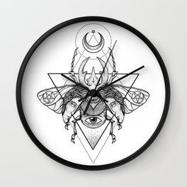 Occult Beetle II Wall Clock