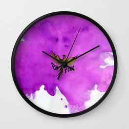 Fly Free Wall Clock