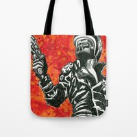 mad max Tote Bags featuring Mad Max  by Abominable Ink by Fazooli