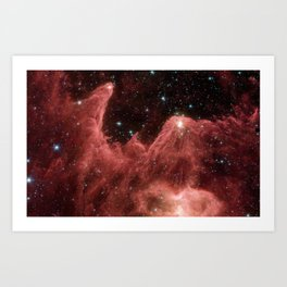 cassiopeia and the raging towers of poseidon | space #06 Art Print