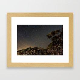 Moonset, Mt Buller Framed Art Print