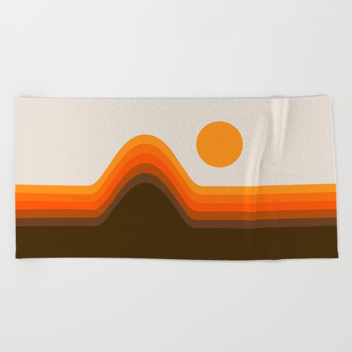 Golden Horizon Diptych - Left Side Beach Towel