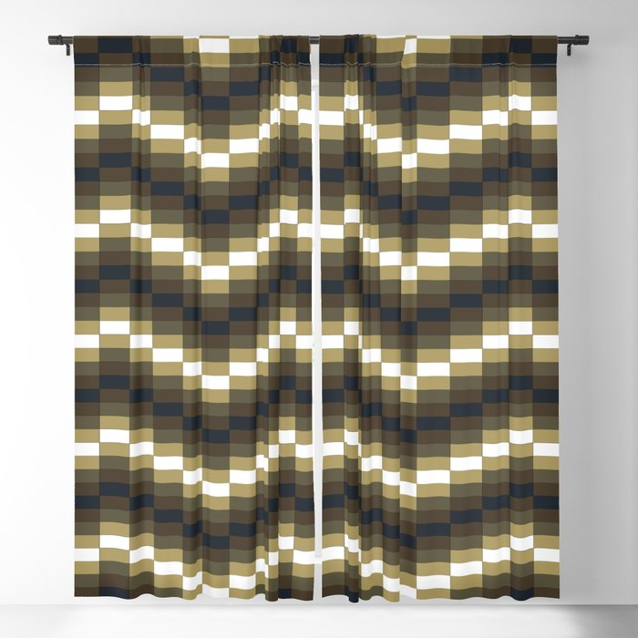Block Wave Illustration Artwork Blackout Curtain