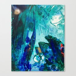 Bright Ocean Spaces, Tiny World Collection Canvas Print