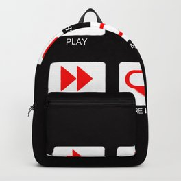 Music Player Button Backpack