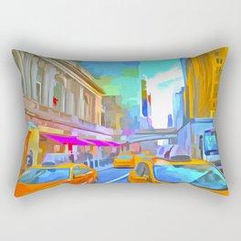 New York Street Pop Art Rectangular Pillow