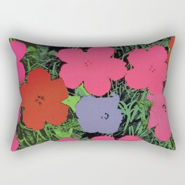 Collage Andy Pop Art Rectangular Pillow
