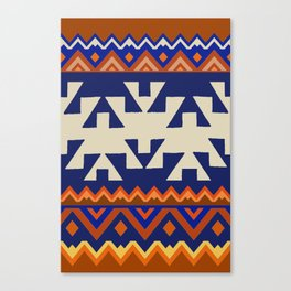 Aztec Folk Art Canvas Print