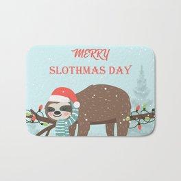 Merry Slothmas! Bath Mat