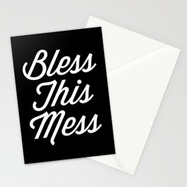 Bless This Mess Funny Quote Stationery Cards