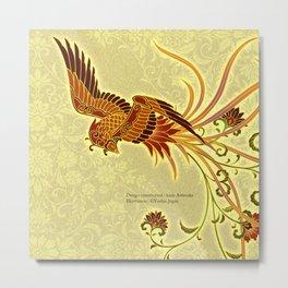 "Japanese Traditional Pattern ""Japanese phoenix""  Metal Print"