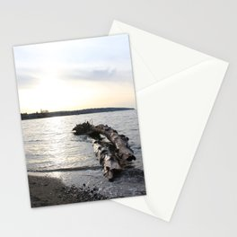 Logs Kits Beach Sunset Stationery Cards
