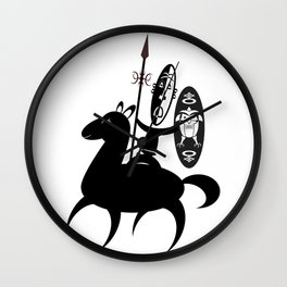 African Rider Wall Clock