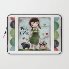 Pug Life - by Diane Duda Laptop Sleeve