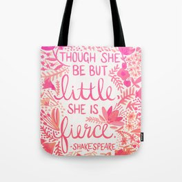 Little & Fierce – Pink Ombré Tote Bag