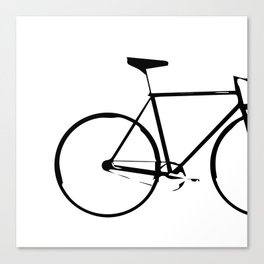 """""""Nowhere Collection"""" - Minimal Black And White Bicycle Print Canvas Print"""