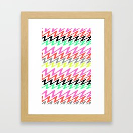 Zig Zag Stripes Framed Art Print